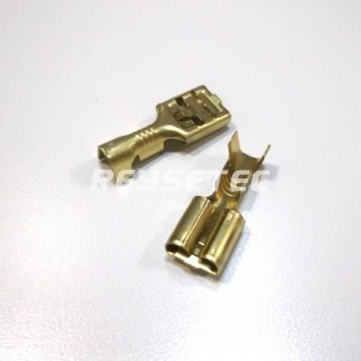 Terminal faston hembra c/retén 6,3mm